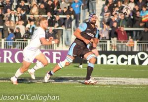 Josh Strauss torna in azione contro Montpellier (Credit: Jason O'Callaghan)