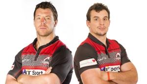 Alasdair Dickinson e John Hardie avranno occasione di festeggiare prima del match di domani sera (Credit: Edinburgh Rugby)