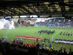 La Scozia ha giocato al Rugby Park contro Tonga nel novembre 2014 (mia foto)