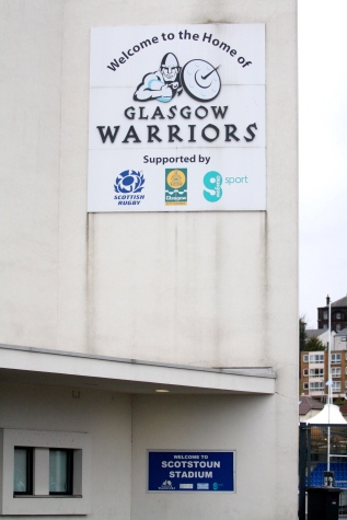 welcome to scotstoun stadium warriors