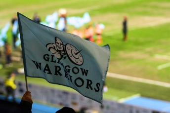 Glasgow Warriors bandierina scotstoun