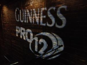 Guinness PRO12 logo wall stramash 2016