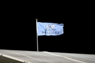 warriors bandiera tetto scotstoun