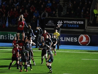 warriors munster line out champions cup 2017