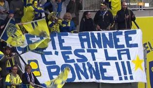 ASM Clermont Auvergne tifosi banner