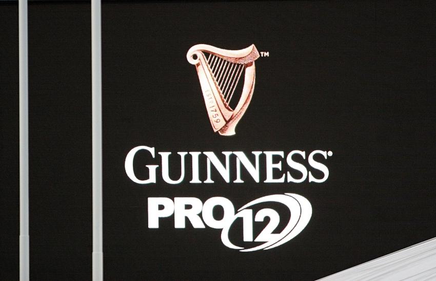 Guinness PRO12 logo nero scotstoun stadium