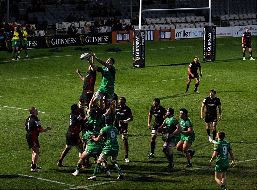 edinburgh connacht myreside touche lineout 2017 guinness pro12