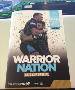 programma warriors-edinburgh 1872 cup 2017