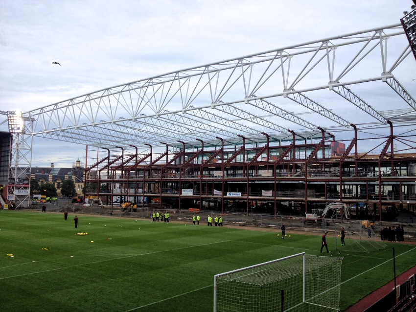 new main stand Tynecastle Park